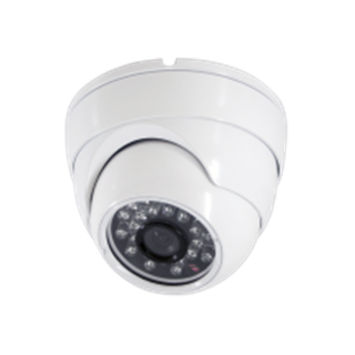 Caméra dôme IR CMOS 600 lignes 20m blanc