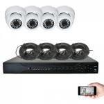 Kit vidéosurveillance 4 caméras AHD 720P 1MP 20m leboncommerce.fr