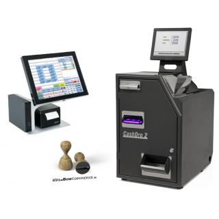 Caisse automatique sécurisée avec monnayeur CashDro 2