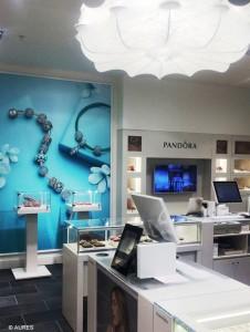 Pandora a choisi le terminal point de vente Sango d'Aures