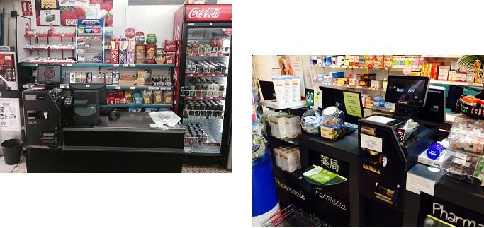 caisse automatique sécurisée pour pharmacie épicerie parapharmacie leboncommerce