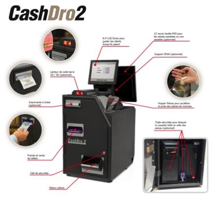 caisse automatique cashdro 2 spécificités leboncommerce.fr