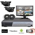 Kit vidéosurveillance 2 caméras CMOS 600 lignes