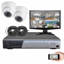Kit vidéosurveillance Sony 2 dômes HD 700 lignes