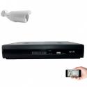 Kit vidéosurveillance IP 1 caméra 1mp 30m