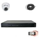 Kit vidéosurveillance 1 dôme AHD 720P 1MP 20m