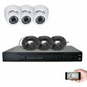 Kit vidéosurveillance 3 dômes AHD 720P 1MP 20m